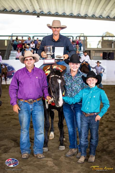 Nathan Wilson Thomas Arena Products Classic Challenge winner riding Blondies Ace.jpg