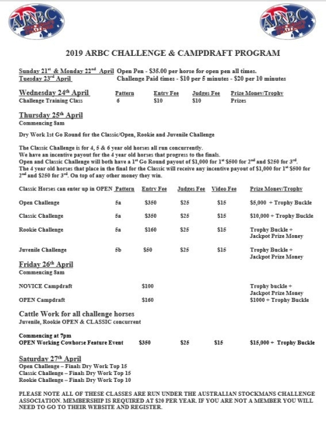 arbc challenge and campdraft program