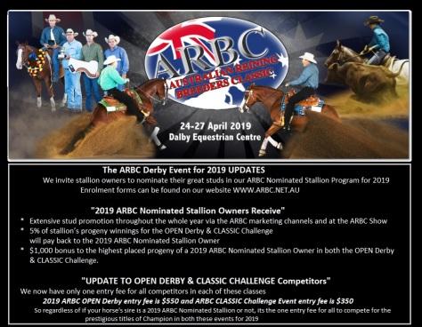 arbc derby and classic updates